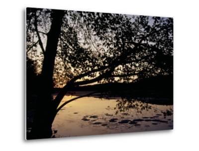 Sunset at Hematite Lake-Raymond Gehman-Metal Print