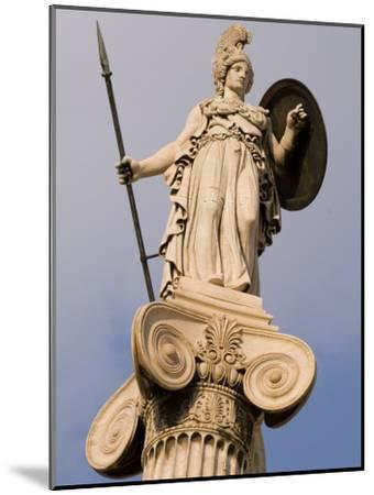 A Statue of Athena on a Column Outside the Academy of Athens-Richard Nowitz-Mounted Photographic Print