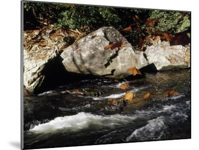 Water Rushing Past Boulders Along the Banks of the Nantahala River-Raymond Gehman-Mounted Photographic Print
