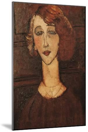 Renée-Amedeo Modigliani-Mounted Art Print