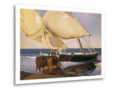Launching the Boat-Joaqu?n Sorolla y Bastida-Metal Print