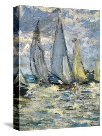The Boats, or Regatta at Argenteuil-Claude Monet-Stretched Canvas Print