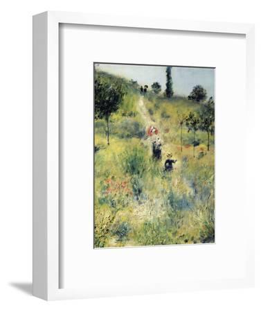 The Path Through the Long Grass-Pierre-Auguste Renoir-Framed Premium Giclee Print