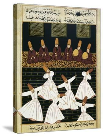 Whirling Dervishes (16th C)--Stretched Canvas Print