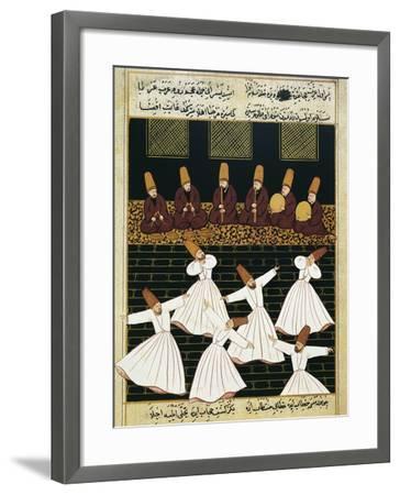 Whirling Dervishes (16th C)--Framed Art Print