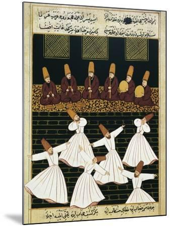 Whirling Dervishes (16th C)--Mounted Art Print
