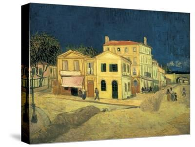 The Yellow House at Arles-Vincent van Gogh-Stretched Canvas Print