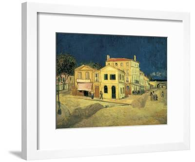 The Yellow House at Arles-Vincent van Gogh-Framed Art Print