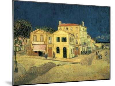 The Yellow House at Arles-Vincent van Gogh-Mounted Art Print