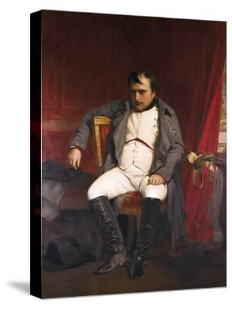 Napoleon after His Abdication-Hippolyte Delaroche-Stretched Canvas Print