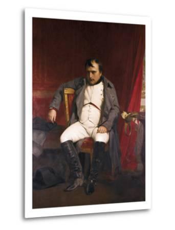 Napoleon after His Abdication-Hippolyte Delaroche-Metal Print