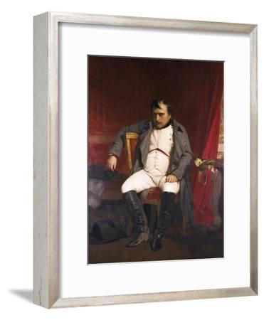 Napoleon after His Abdication-Hippolyte Delaroche-Framed Art Print