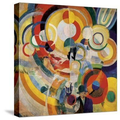 Carousel with Pigs-Robert Delaunay-Stretched Canvas Print