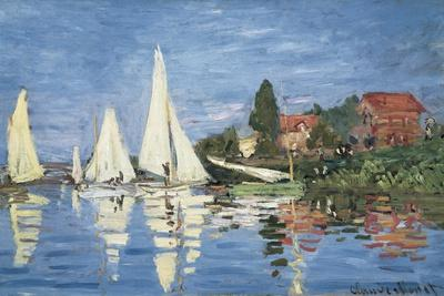 Regatta at Argenteuil-Claude Monet-Stretched Canvas Print