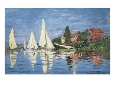 Regatta at Argenteuil-Claude Monet-Art Print