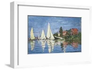 Regatta at Argenteuil-Claude Monet-Framed Art Print