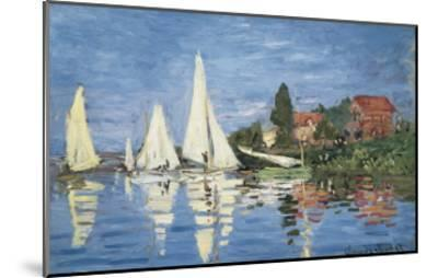 Regatta at Argenteuil-Claude Monet-Mounted Art Print