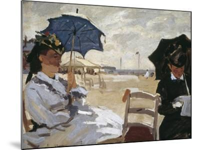 The Beach at Trouville-Claude Monet-Mounted Art Print