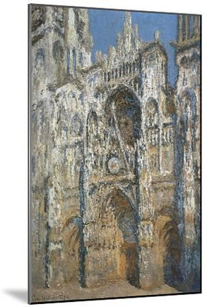Rouen Cathedral, the Portal and the Tower of Saint-Romain, Morning Effect, Harmony in White-Claude Monet-Mounted Art Print