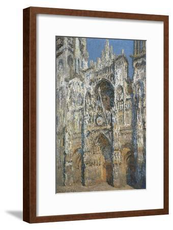 Rouen Cathedral, the Portal and the Tower of Saint-Romain, Morning Effect, Harmony in White-Claude Monet-Framed Art Print