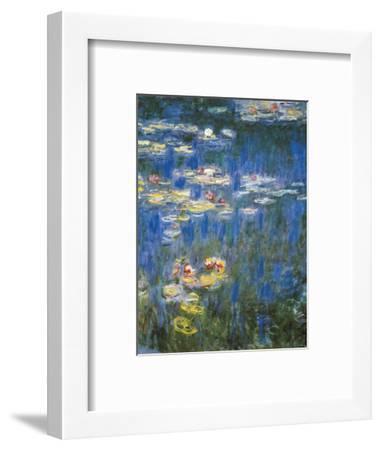 Waterlilies: Green Reflections-Claude Monet-Framed Premium Giclee Print