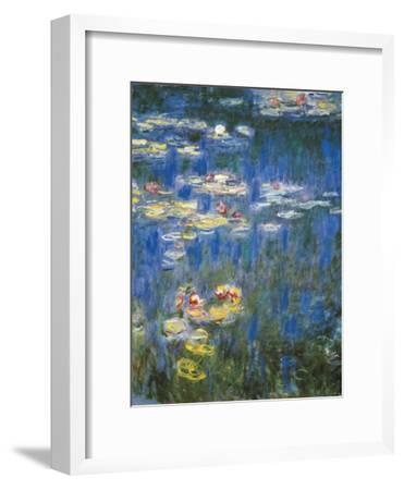 Waterlilies: Green Reflections-Claude Monet-Framed Art Print