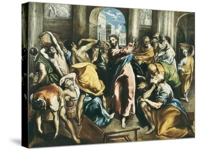 Christ Driving the Traders from the Temple-El Greco-Stretched Canvas Print