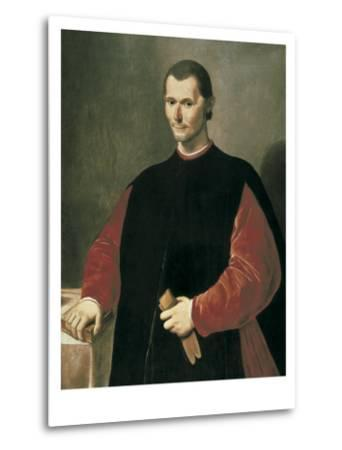 Portrait of Niccolo Machiavelli-Santi Di Tito-Metal Print