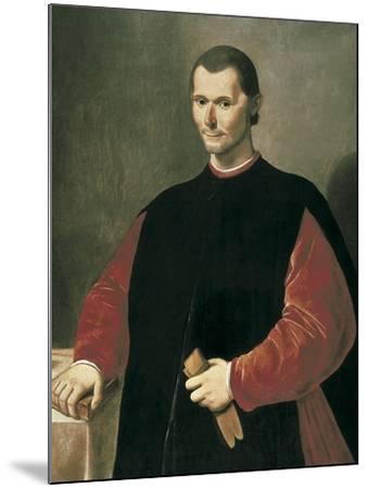 Portrait of Niccolo Machiavelli-Santi Di Tito-Mounted Art Print