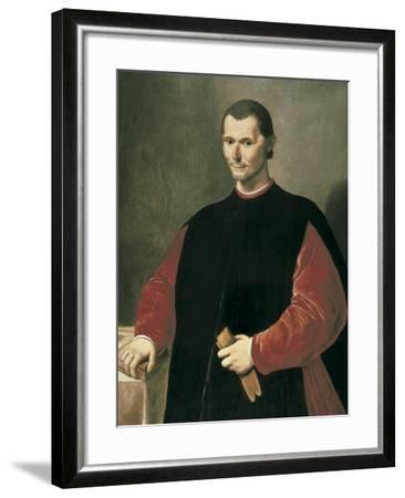 Portrait of Niccolo Machiavelli-Santi Di Tito-Framed Art Print