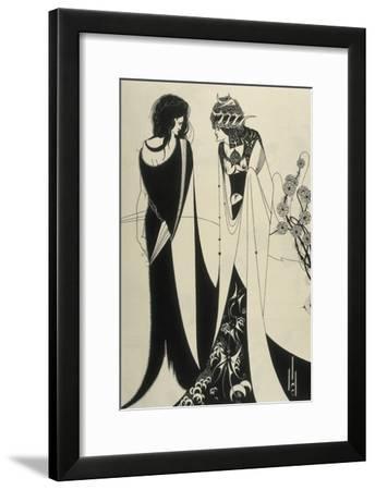 Salome-Aubrey Beardsley-Framed Art Print