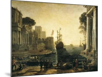 Ulysses Returning Chryseis to Her Father-Claude Lorraine-Mounted Art Print