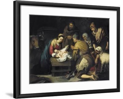 The Adoration of the Shepherds-Bartolome Esteban Murillo-Framed Art Print