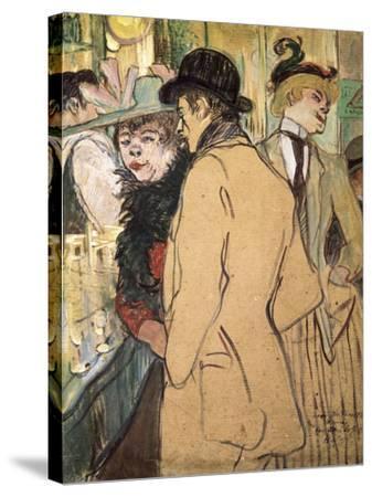 Alfred La Guigne-Henri de Toulouse-Lautrec-Stretched Canvas Print