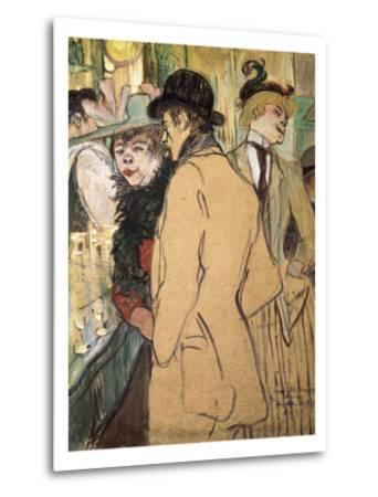 Alfred La Guigne-Henri de Toulouse-Lautrec-Metal Print