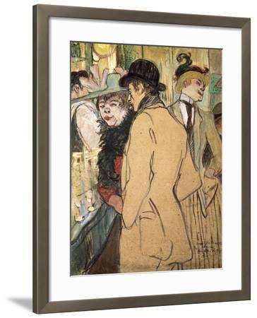 Alfred La Guigne-Henri de Toulouse-Lautrec-Framed Art Print