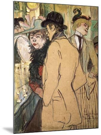 Alfred La Guigne-Henri de Toulouse-Lautrec-Mounted Art Print