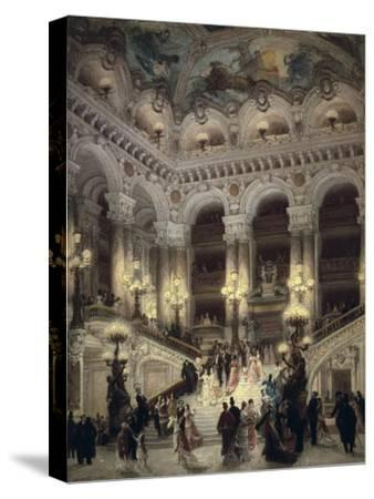 The Stairway of the Opera, Paris-Jean B?raud-Stretched Canvas Print