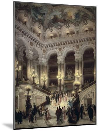 The Stairway of the Opera, Paris-Jean B?raud-Mounted Art Print