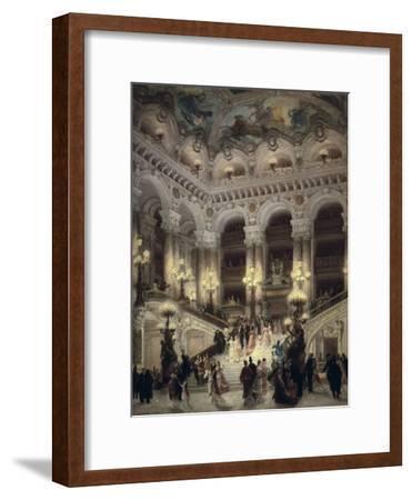 The Stairway of the Opera, Paris-Jean B?raud-Framed Art Print