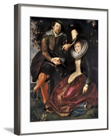 rubens and isabella brant in the honeysuckle bower art print by
