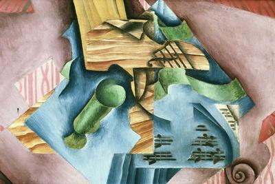 Double Bass and Vase-Juan Gris-Stretched Canvas Print