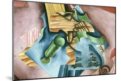 Double Bass and Vase-Juan Gris-Mounted Art Print