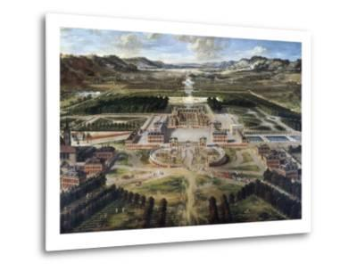 View of Chateau and Gardens of Versailles, Taken from Paris Avenue-Pierre Patel-Metal Print