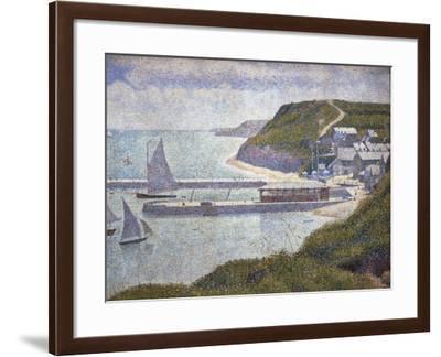 Harbour at Port-En-Bessin at High Tide-Georges Seurat-Framed Art Print