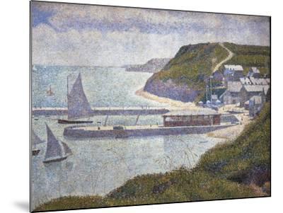 Harbour at Port-En-Bessin at High Tide-Georges Seurat-Mounted Art Print