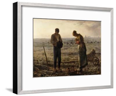 The Angelus (L'Angélus)-Jean-Fran?ois Millet-Framed Art Print