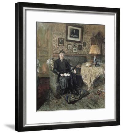 Madame Adrien Bénard-Edouard Vuillard-Framed Art Print