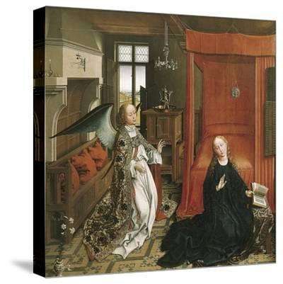 The Annunciation-Rogier van der Weyden-Stretched Canvas Print