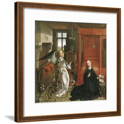 The Annunciation-Rogier van der Weyden-Framed Art Print